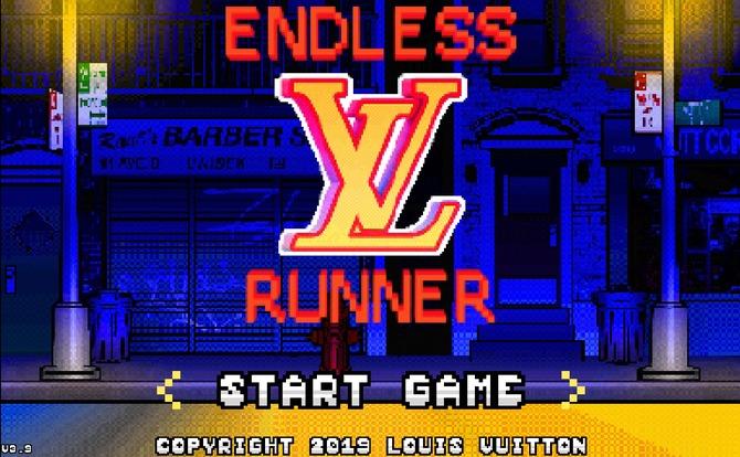 Endless Runner is an 8-bit game by Louis Vuitton
